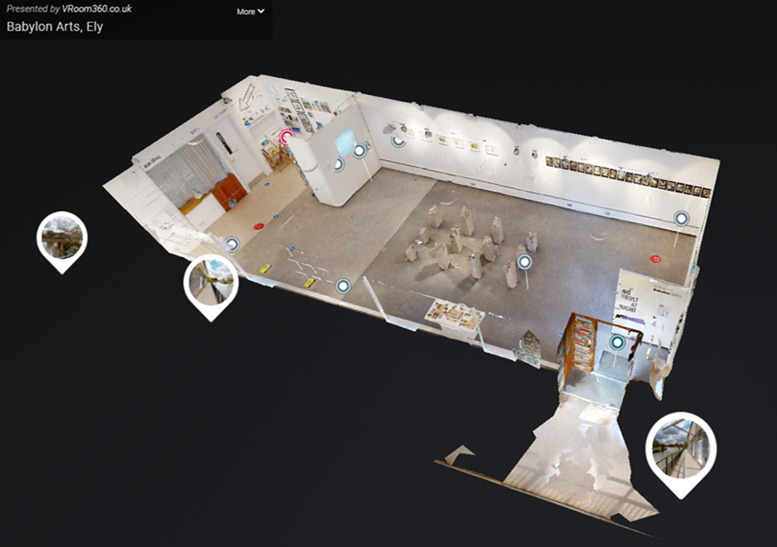screen shot of exhibition virtual tour