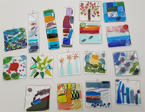 Create your own Fused Glass Coaster or Hanging Decoration