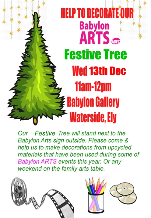 Help to decorate our Babylon ARTS Festive Tree
