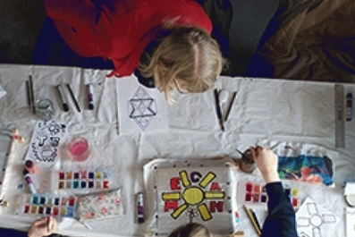 Young People working with Stained Glass Museum for Challenge & Develop programme