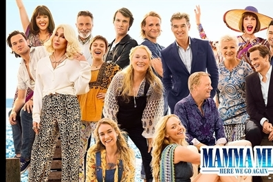Mamma Mia Here We Go Again (PG) tickets on sale on the door