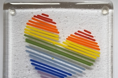 Valentine's Day Fused Glass with June Massey